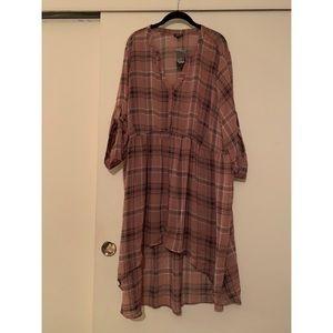 Long torrid flannel transparent shirt
